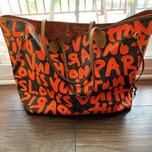 Authentic Louis Vuitton Graffiti Neverfull GM Bag